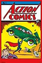 COMICS 1938 Superman Action NO. 1 Cover Poster 24 in x 36 in Out of Print