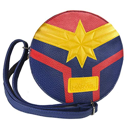 ARTESANIA CERDA Bolso Bandolera Captain Marvel, Unisex Adultos, Azul (Azul), 5x18x18 cm (W x H x L)