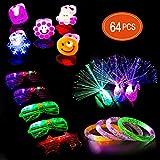 Ucradle 64 Stück LED Leuchtspielzeug Party Zubehör Mitgebsel für Kinder Kindergeburtstag...