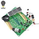Kits de bricolaje AT89C2051 Reloj electrónico Tubo digital Conjunto de pantalla LED Módulo electrónico Piezas y componentes DC 9V - 12V