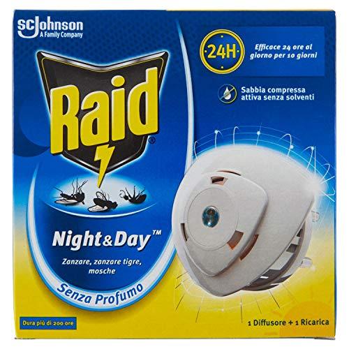 Raid Night e Day Anti Zanzare Inodore 1Base + 1 Ricarica