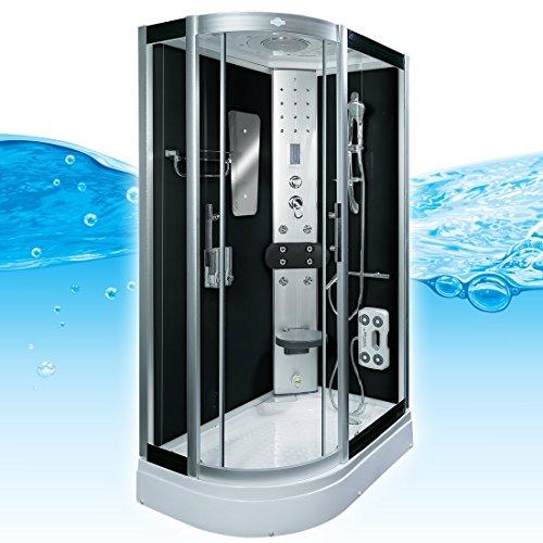 AcquaVapore DTP8060-7302L Dusche Dampfdusche Duschtempel Duschkabine 120x80, EasyClean Versiegelung:JA mit 2K Scheiben Versiegelung