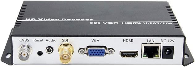 URayCoder H.265 H.264 IP Video Streaming Decoder RTMP M3U8 HTTP RTSP UDP to SDI HDMI VGA CVBS Video Audio Decoder H.265 H.264 IPTV Decoder for Decoding Video Encoder and IP Camera