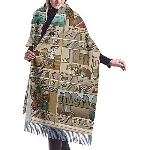An Green Die fortlaufende Geschichte von Outlander - The Gabeaux Tapestry Teil III Winterlanger Kaschmirschal-Schal für Herren und Damen Wilde, weiche Wolle Einseitiger Vollflächendruck