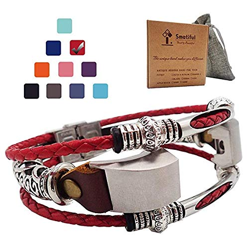 Smatiful Alta Bracelets with Box Sets for Adults (not for Toddlers and Teens), Extender Replacement Accessory Sport Straps with Clip Link for Fitbit Alta Hd Activity Tracker, Red