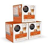Nescafé DOLCE GUSTO Café LATTE MACHIATTO CARAMEL - Pack De 3 x 16 cápsulas - Total: 48 Cápsulas