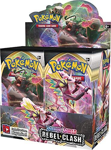 Pokemon Rebel Clash Sword & Shield Booster Box - 36 Packs