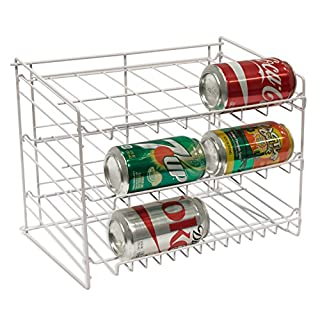 Atlantic Gravity-Fed Compact Single Canrack - Kitchen Organizer, Durable Steel Construction, Size Fits Most Pantries, PN1002 in White (B00021RESS)   Amazon price tracker / tracking, Amazon price history charts, Amazon price watches, Amazon price drop alerts