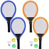 HLD Kinderschläger Set Tennisbälle Spielzeug-Geschenk for Jungen-Mädchen-weiche Badminton mit Federball Bälle Jungen und Mädchen Strand Outdoor-Sport-Spielzeug Extra Large Vogel Leuchtet for die Nacht