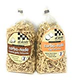 Carba-nada Reduced Carb Fettuccine Pasta Bundle Of Two 10 Ounces Bags: One Egg and One Garlic...