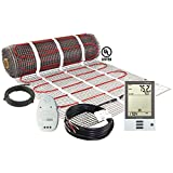 LuxHeat 70 Sqft Mat Kit (240v) Electric Radiant Floor Heating System for Under tile, Stone & Laminate. Includes Self-Adhesive Heat Mat, OJ Microline Programmable Thermostat with GFCI & Cable Monitor