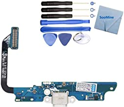SooMine USB Dock Connector Charging Port Flex Cable Compatible Samsung Galaxy S6 Active AT&T G890A with Repair Tools