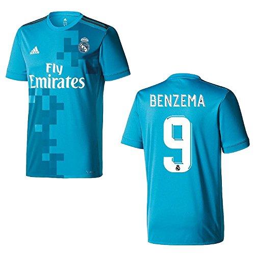 adidas REAL Madrid Trikot 3rd Herren 2018 - Benzema 9, Größe:XXL