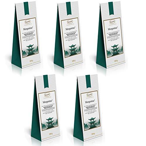 Ronnefeldt - Morgentau - Aromatisierter Grüner Tee, 5 x 100 g (500 g)