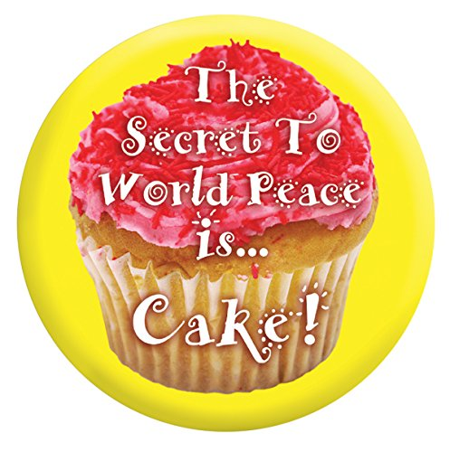 'simpatico' World'pace Cake'38 mm badge/3,8 cm di diametro, 3,81 cm (1,5') contiene il perno di metallo)
