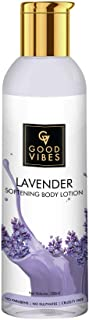 Good Vibes Lavender Softening Body Lotion - 200 ml - Rich in Vitamin E for Dull Skin - Softens and Nourishes Skin - Cruelt...