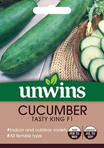 Unwins 30310614 Graines de concombre Tasty King F1 Transparent