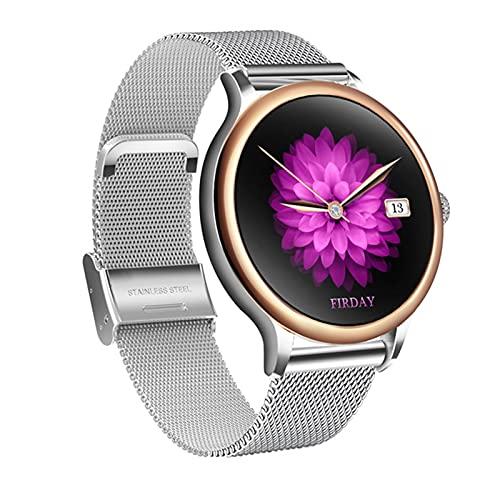 YXJ G10 Relojes Inteligentes recordatorio de Ciclo Menstrual 24hdynamic Heartrate Sports Pedómetro Mujer Multifunción Reloj para Mujeres,D