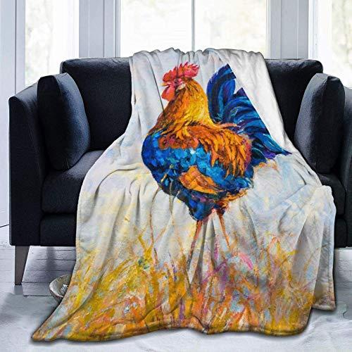Manta de franela de forro polar ligera y acogedora para sofá, dormitorio, adultos, niños, colorido tocado con llama, con accesorios, pendientes, collar, animales abstractos