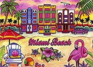 Miami Beach Florida Fridge Collector's Souvenir Magnet 2.5
