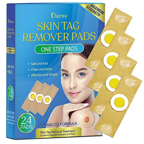 Ulensy Skin Tag Remover Pads, Effective Skin Tags Removal Treatment, Skin Tag Remover 24 Pads