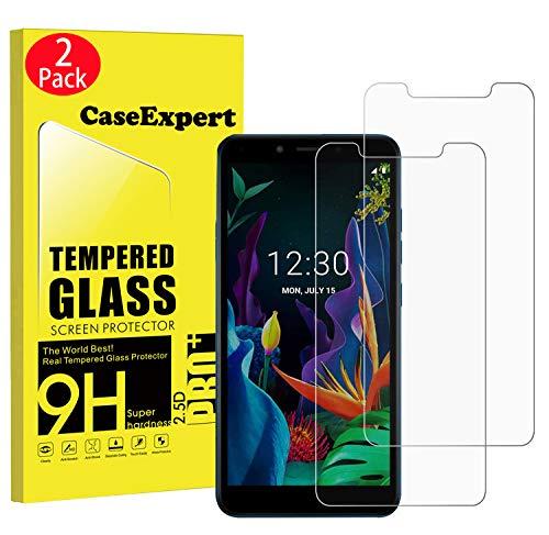 CaseExpert 2 Pack - LG K20 (2019) Panzerglas, Gehärtetem Schutzfolie Glasfolie Hartglas Panzerfolie Displayschutzfolie Für LG K20 (2019)