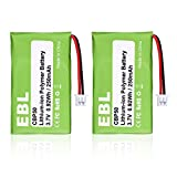 EBL 2 Pack 65358-01 Repalcement Battery for Plantronics CS-50 CS-55 CS50-USB CS-60 64327-01 64399-01 HL10 PL-64399-01 CBP50 Replacement Battery Wireless Headset