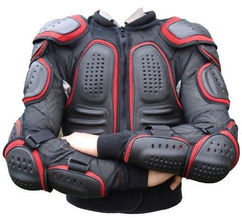 Gearx Motocross Motorfiets Body Armour Schaatsen Snowboards Protec Jas L Zwart