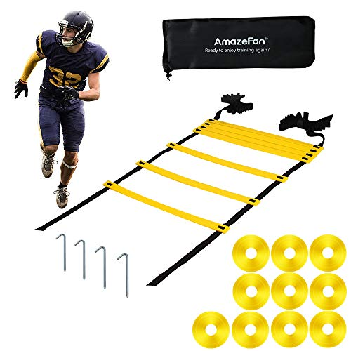 Amazefan 21ft Adjustable Agility Ladder