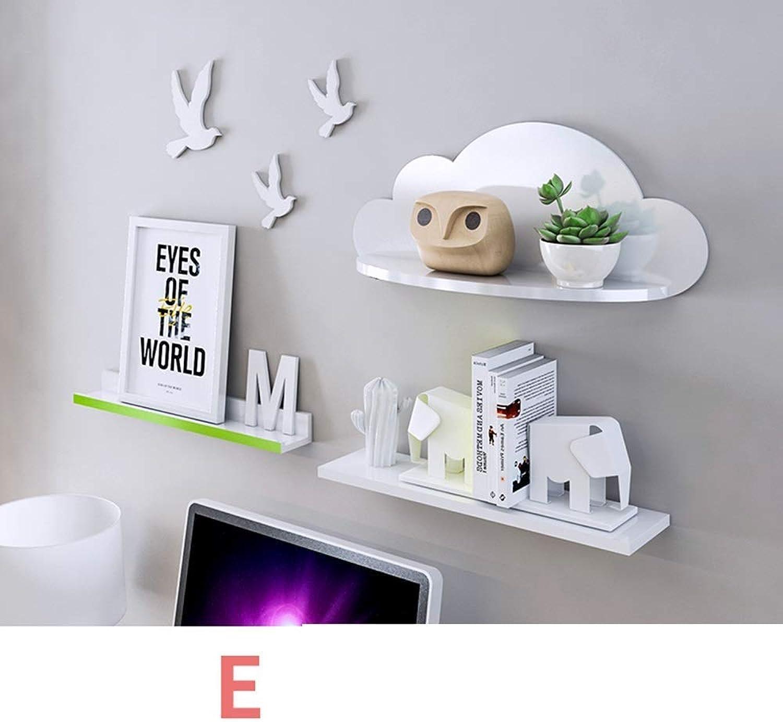 Shelf Modern Minimalist Cloud Wall Shelf Wall Shelf Rack Bedroom Storage Shelf-60  25.6  16Cm Creative Wall Shelf,H