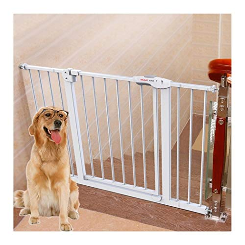 Baby Gate Stair Baby Safety Gate Walk Thru Extra Wide Pet Fence Pressure Fit Metal Garden Dog Gate With Door Self Closing Self Closing For Doorways Hallways Aisle Fe(Color:Height 77cm,Size:215~224cm)