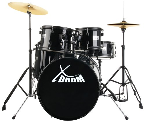 "XDrum Rookie 20"" Studio Batteria acustica completa, nera, professionale, scontatissima, affare"