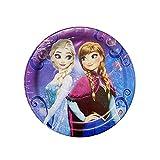 アナと雪の女王 ペーパープレート ( S ) 8枚入り 14976 使い捨て 紙皿 パーティー 誕生日