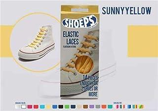Shoeps - Cordones Elásticos, 14 Piezas, Sunny Yellow