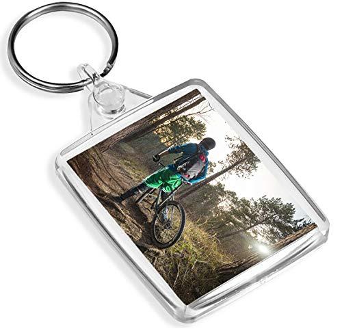 Destinazione vinile Portachiavi Mountain Bike Portachiavi - IP02- Motociclista di BMX Trail Bikes Bosco Foresta 8657