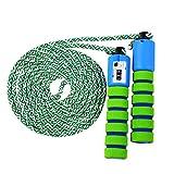 KONVINIT Corda per Saltare per Bambini Regolabile Jump Skip Rope con la Funzione di conteggio per Giochi scolastici o attività all'aperto