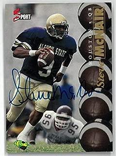 Steve McNair signed Alcorn State/Houston Oilers 1995 Classic 5-Sport Football Card- LTD 69/630 - NFL Autographed Football Cards