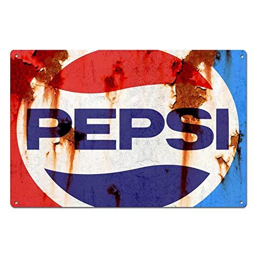 NNGT Pepsi Cola - Placa de metal para pared, diseño de tapa de óxido, estilo vintage