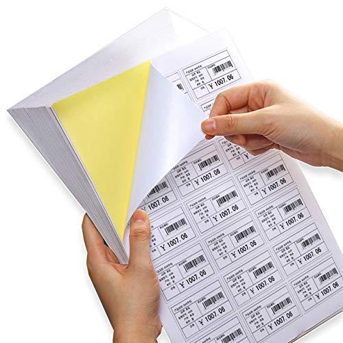 Magicdo A4 - Etichette autoadesive per stampante a getto d'inchiostro e laser, 65 fogli