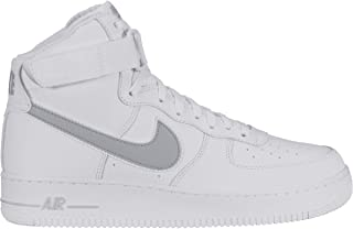 Men's Air Force 1 High '07 3 Basketball Sneakers, White/Wolf Grey (US 12)