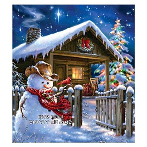 Riou DIY 5D Diamant Painting voll,Stickerei Malerei Crystal Strass Stickerei Bilder Kunst Handwerk für Home Wand Decor gemälde Kreuzstich Festlich Weihnachten (Mehrfarbig, 30 * 34cm)