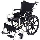 LKK-KK Portátil con silla de ruedas sillas de ruedas Travel Silla Luz de transporte plegable de aluminio de aleación de punción colisión Llevar ancianos recorrido del trole Andadores GFJH