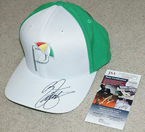 Read About RICKIE FOWLER Signed 2019 Arnold Palmer Golf Tournament PUMA Green HAT + COA - JSA Certif...