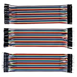 Jumper Wire Dupont Kable Puentes - ALLEU J7011 120PCs Bunt Kable 40 x 20CM Hembra-Hembra, Masculino-Hembra, Masculino-Masculino para Arduino, Raspberry pi