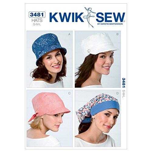 Kwik Sew K3481 Hats Sewing Pattern, Size S-M-L