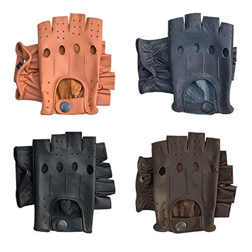 Prime Leather Gants DE Conduite, DE Cyclisme, DE Musculation/Fitness en Cuir (réf. 309, 312, 313, 314) - Multicolore