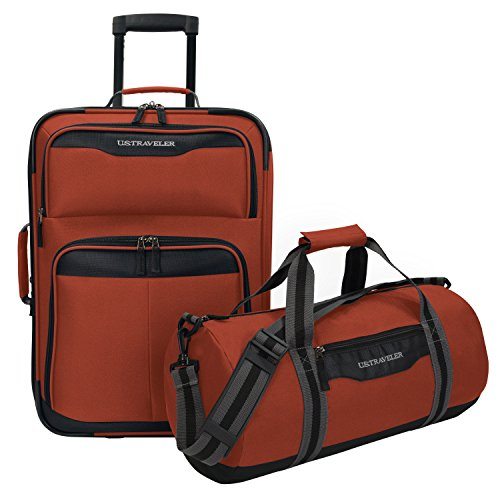 U.S. Traveler Hillstar Carry-on Expandable Rolling Luggage Set