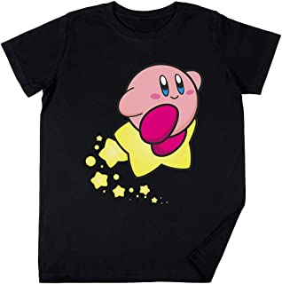 Vendax Paseo en Kirby Niños Chicos Chicas Unisexo Camiseta Negro
