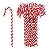 Hicarer 50 Pezzi Bastoncini di Zucchero per Natale Canna di Albero Natale Ornamenti per Bomboniere Decorazioni di Feste (Rosso e Bianco)
