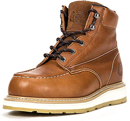 ROCKROOSTER Work Boots for Men, Soft Toe Waterproof Safety Working Shoes (AP808-soft, 9-BRN)